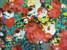 Fashionista Cotton Sateen - Floral Red/Green