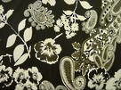 Fashionista Cotton Sateen - Paisley Floral Black/White